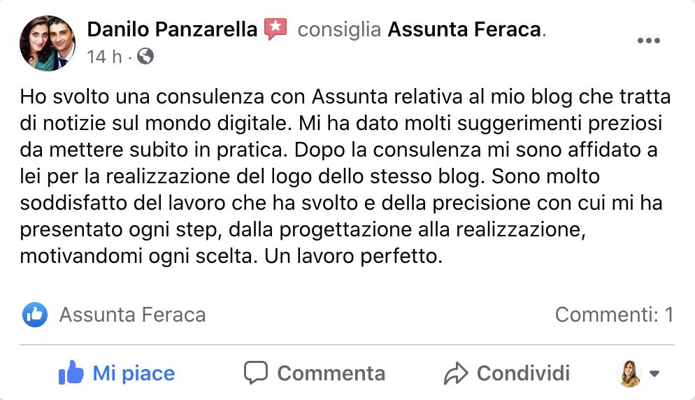 Recensione Consulenza Digital Marketing Assunta Feraca
