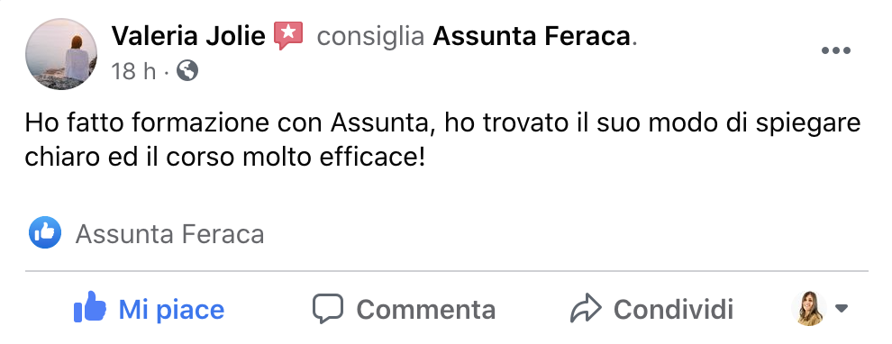 Recensione Corso Instagram Marketing Assunta Feraca